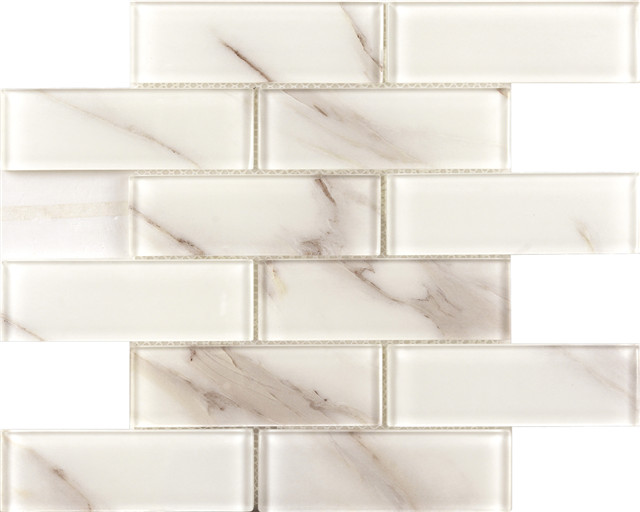 Laminate Stone Glass Mosaic Tiles |Musivo|Palermo