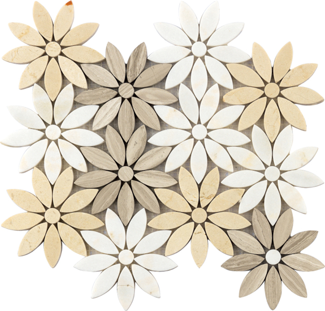 Natural Stone Mosaic Tiles |Musivo|Flower Design And More