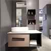 Floating Wood Sink Vanity | D-6029